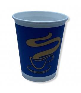 Papírpohár BLUE - Gold Coffee Cup - Vending 6oz (177 ml) 100 db (2 csík)
